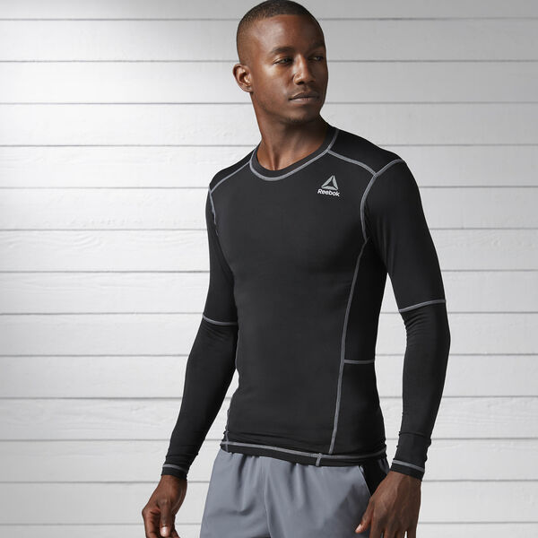 Work Out Ready Compression Long Sleeve Shirt Black BK4180