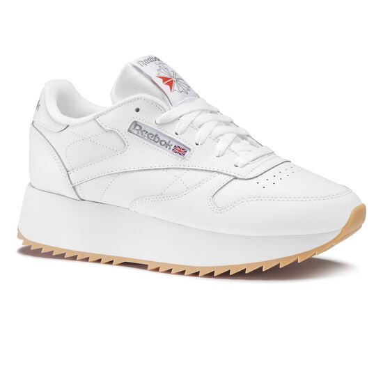 Reebok - Classic Leather Double White/Silver Met/Gum DV6472