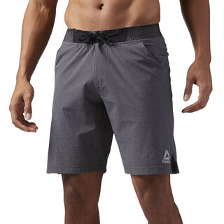 Reebok Epic Knitted Waistband Shorts Dark Grey Heather CD5193