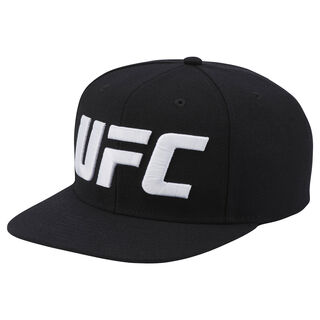 UFC Ultimate Fan Flat Brim Snapback Hat Black AL2065