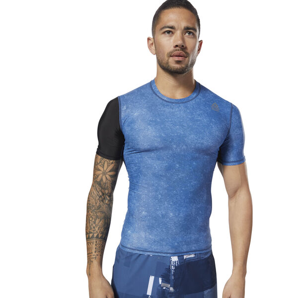 Reebok CrossFit Short Sleeve Compression Blue CY4968