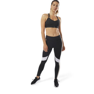 Reebok Lux Leggings - Colour Block Black / Parchment D94131