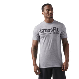 Reebok CrossFit Forging Elite Fitness Tee Medium Grey Heather/Coal CF4544