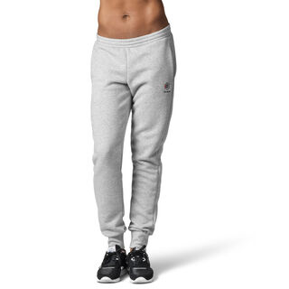 Reebok Classics Franchise Fleece Pants Medium Grey Heather / Black DH1378
