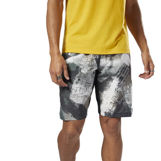 Epic Print Ltwt Shorts Chalk Green DN6194