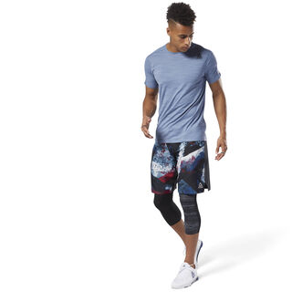Epic Print Ltwt Shorts Bunker Blue DM7696