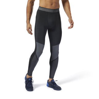 Training Jacquard Compression Tights Black DP6556