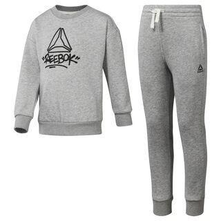Boys' Essentials French Terry Tracksuit Medium Grey Heather DH4341