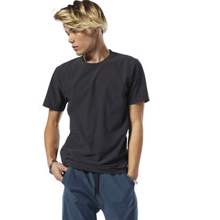 Training Supply Woven Tee Black DP6120