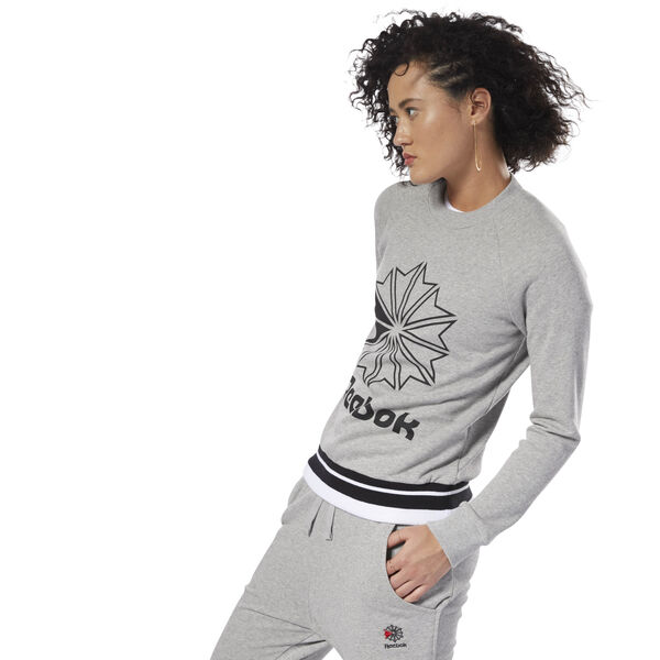 Classics French Terry Crew Grey DH1384