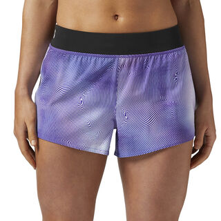 Woven 8 cms Short - Techspiration Print Aubergine/Black/White BR2632
