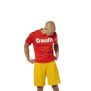 Reebok CrossFit Forging Elite Fitness Tee Canton Red DT2773