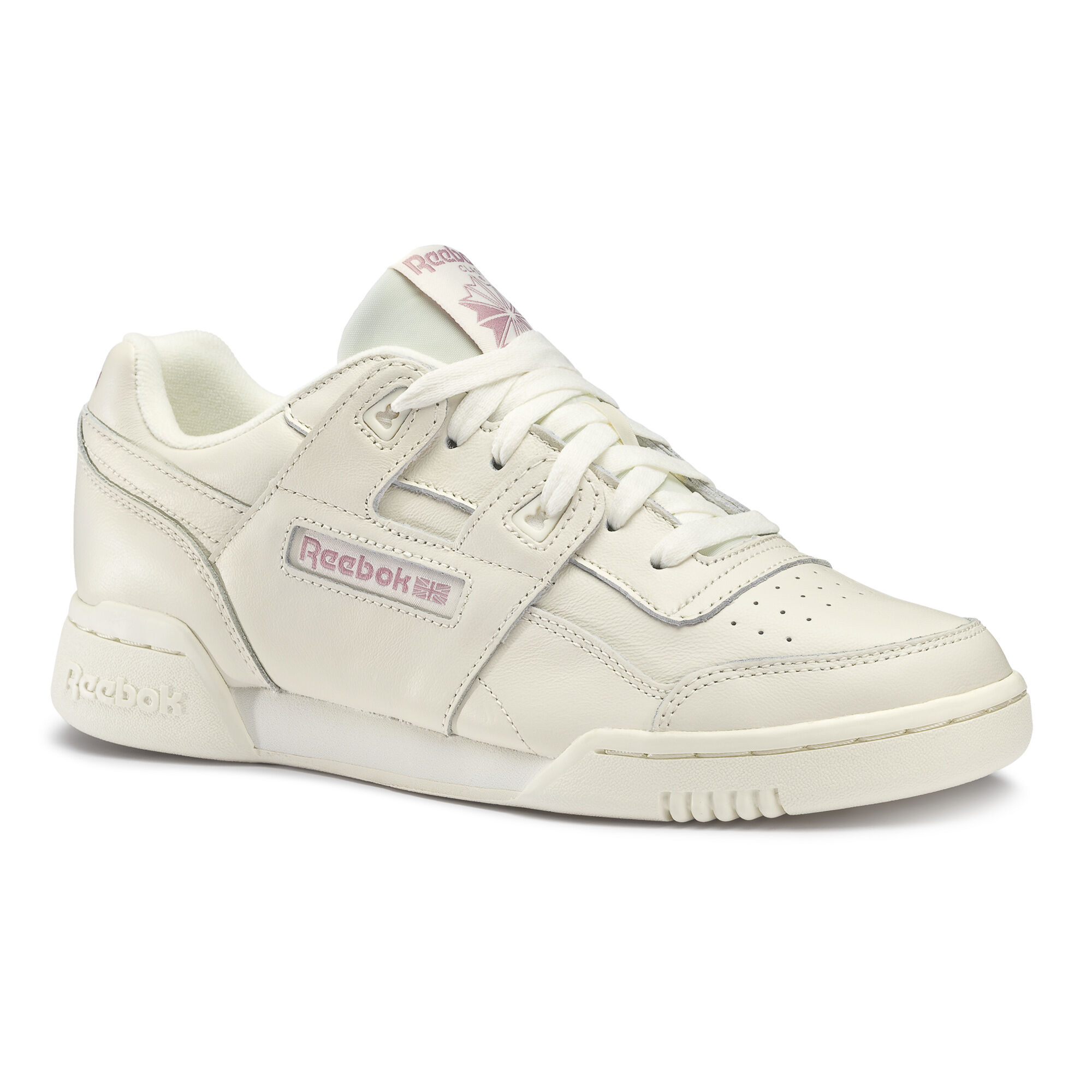 New Womens Reebok Pink Aztec Og Textile Trainers Court Lace Up