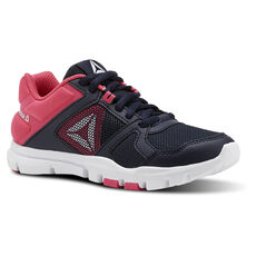 af3e613301a7 Reebok - YourFlex Train 10 - Pre-School Collegiate Navy Twisted Pink White